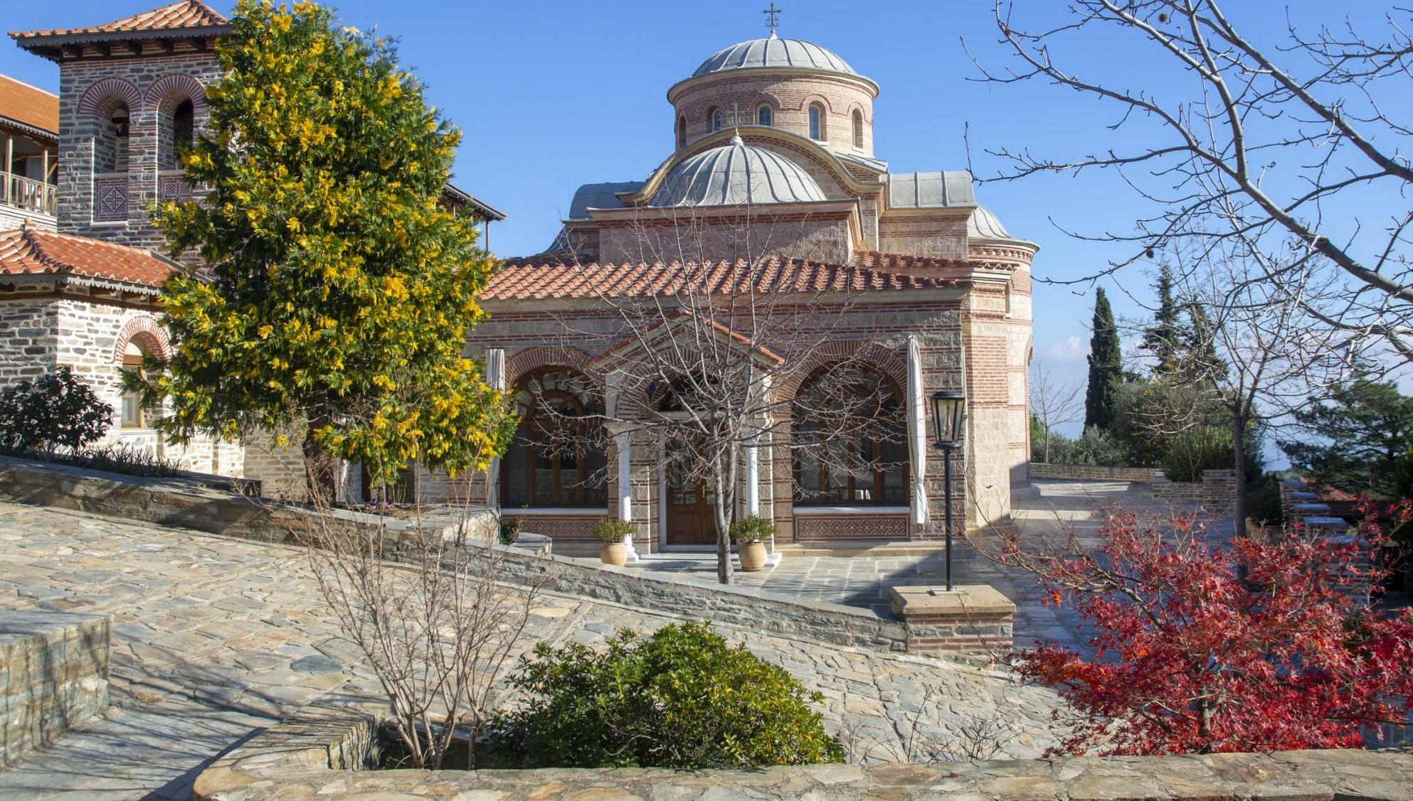 Άγιον Όρος Ιερό κελί Μπουραζέρι εορτάζει του Άγίου Νικολάου